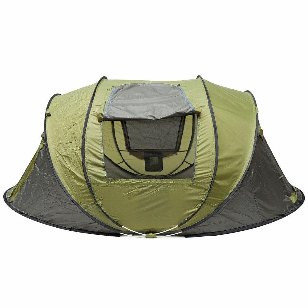5-8 personnes grande tente de Camping automatique Pop Up famille parasol auvent coupe-vent imperméable
