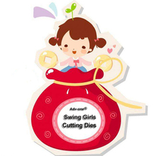 Adv one Lovely Swing Girl Metal Cutting Dies Stencils For Scrapbooking Paper