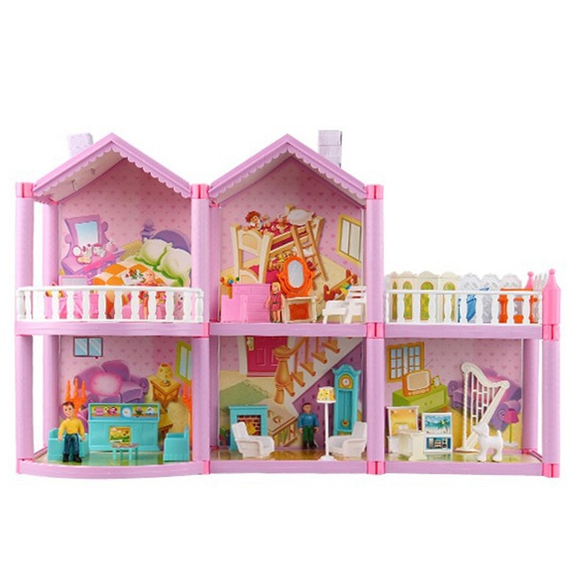 Doll House Large Furniture Miniatures DIY Doll Houses Miniature Doll Houses Wooden Handmade Toys for Children Birthday Gifts сумка wooden houses w287 2014
