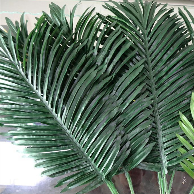 10pcs artificial leaves simulation plants fake palm tree leaf