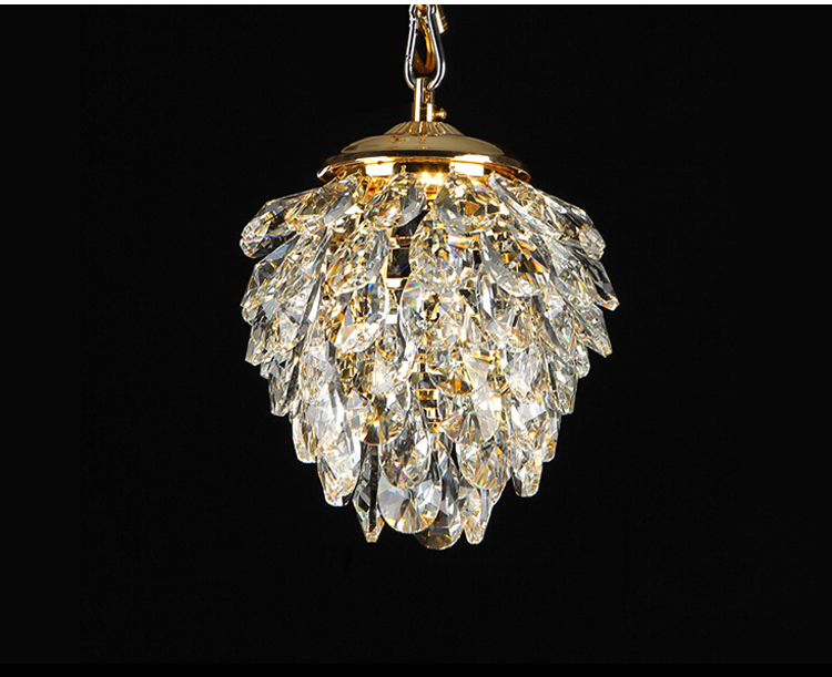 Aliexpress Modern Crystal Pendant Light Gold Chrome Pinele Shape Used In Walkway Club Guaranteed 100 Free Shipping From
