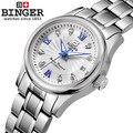 Nova Suíça Binger relógios de design venda Quente Original Feito Em Genebra Senhora relógio de pulso de relógio mecânico para as mulheres por atacado