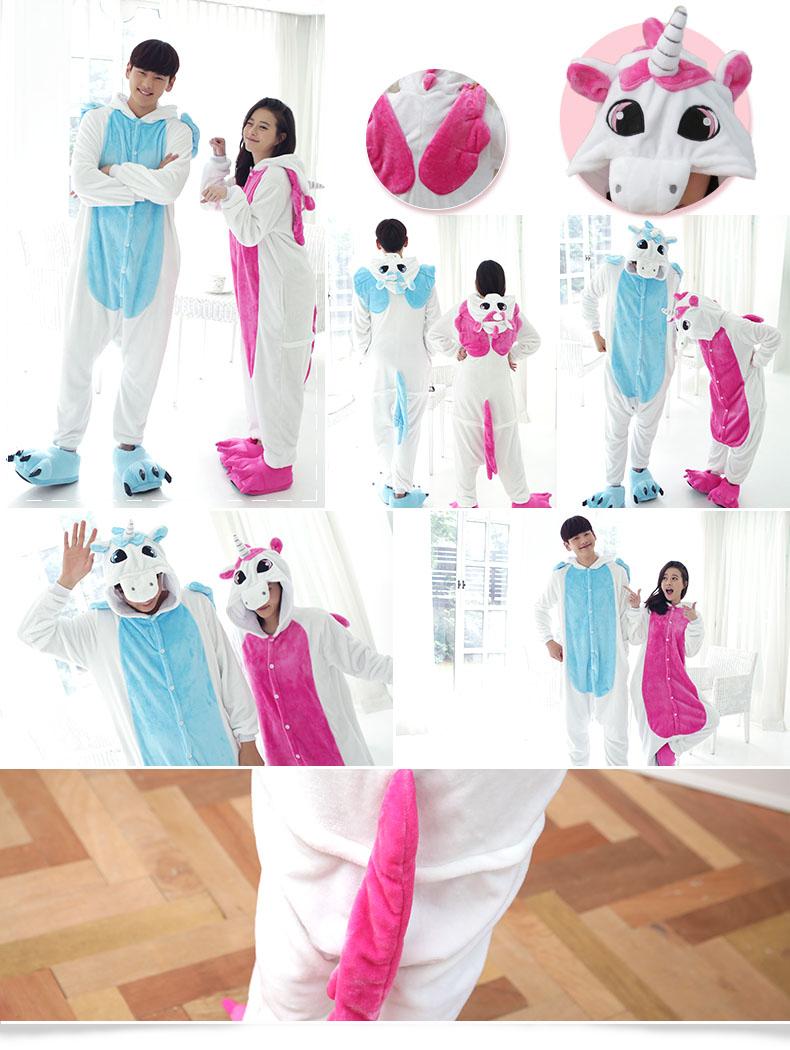 HTB1ruSzQXXXXXaTaXXXq6xXFXXXZ - Pink Unicorn Pajamas Sets Flannel Pajamas Winter Nightie Stitch Pyjamas for Women Adults