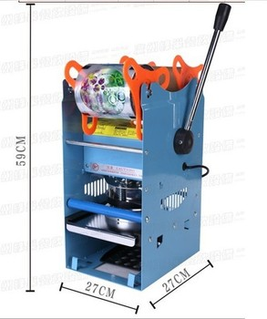 AC220V Manual Cup Sealing Machine for food and drink package,Manual cup sealer,bubble tea cup sealing machine xeoleo commerical cup sealer automatic cup sealing machine for pp pe paper pc bubble tea machine suitable 70 75 88 90 95mm