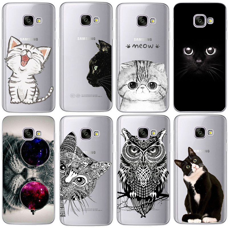 Coque For Samsung Galaxy S4 S5 S6 S7 Edge S8 Plus A3 A5 2016 2015 2017 prime J1 J2 J3 J5 J7 Case TPU Silicon Cover Cat Fundas