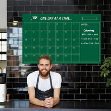 Square Calendar Blackboard stickers Green Board Posted 60x95cm Children Teaching  Month Plan Note Removable Wall Stickers