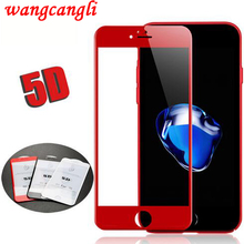 5D Screen Protector For iphone 7 Protective glass 4D full cover  for 6 6s plus tempered 7screen protecto