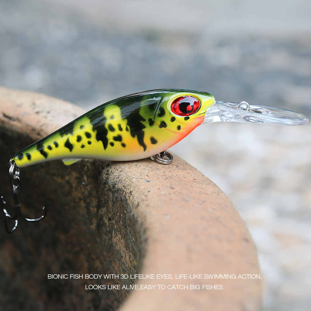 Image 5 - TREHOOK Floating Wobbler Minnow Fishing Lure Crankbait 10cm 10g Rattlings Pesca Carp Swimbait Crankbait Fishing Lure Hard Bait-in Fishing Lures from Sports & Entertainment
