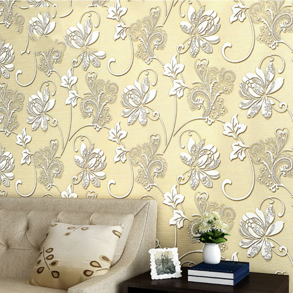 3D Embossed Damask European style Non-woven wallpaper Classic Wall Paper Roll Wallcovering Luxury Wallpaper Floral european style wallpapers 3d thicken non woven wallpaper for walls 3 d non woven wall paper roll floral wallpaper contact paper