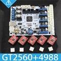 Бесплатная доставка! GT2560 Запчасти для 3D-принтера плата контроллера мощность чем Mega2560 + Ultimaker и Ramps 1 4 + Mega2560 с A4988