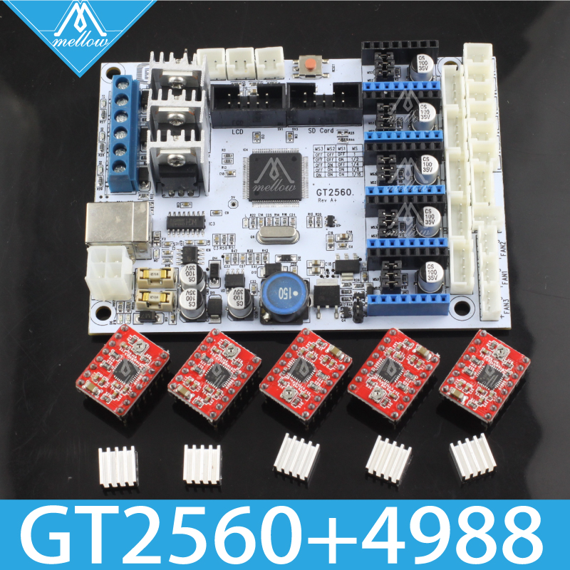 Livraison gratuite! GT2560 imprimante 3D pièces contrôleur carte puissance que Mega2560 + Ultimaker et rampes 1.4 + Mega2560 avec A4988-in 3D Printer Parts & Accessories from Ordinateur et bureautique on AliExpress - 11.11_Double 11_Singles' Day 1