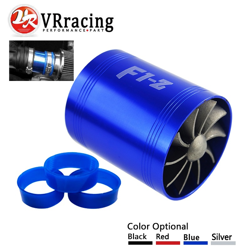 VR RACING - F1-Z Turbo cargador de turbina Doble Admisión de aire Gas ahorro de combustible ventilador coche supercargador VR-FSD11