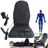 Practical Multifunctional Car Chair Body Massage Heat Mat Seat Cover Cushion Neck Pain Lumbar Support Pad Back Massager