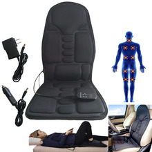 Praktische Multifunctionele Auto Stoel Body Massage Warmte Mat Seat Cover Kussen Nekpijn Lendensteun Pad Back Massager