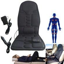 Thiết thực Đa Năng Xe Hơi Ghế Massage Toàn Thân Nhiệt Thảm Ghế Đệm Cổ Đau Thắt Lưng Miếng Lót Máy Mát Xa Lưng