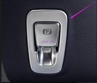 ABS Chrome Car Electrical Park Brake AUTO Hold Switch Decoration Covers Car Styling For Mercedes Benz