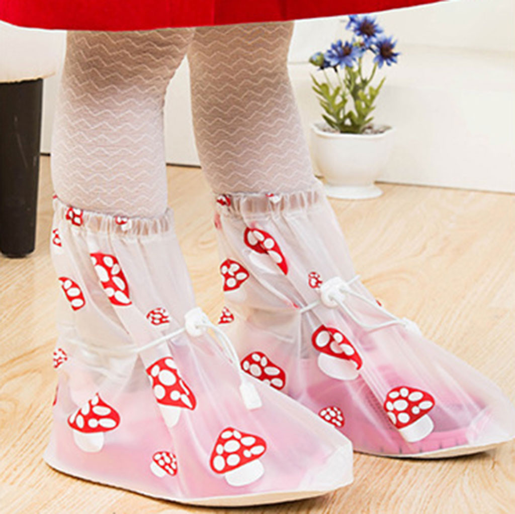 1 Pair Waterproof Protector Children's Waterproof Shoe Cover Anti-Slip Rain Shoe Cover For Rain Gear Accessiores(China)