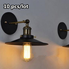 10pcs American Vintage Wall Lamp Indoor Lighting Bedside Lamps Retro Wall Lights For Reading Room Bedroom Home E27 220V american vintage wall lamp indoor lighting bedside lamps wall lights for home adjustable surface mounted up and down wall light