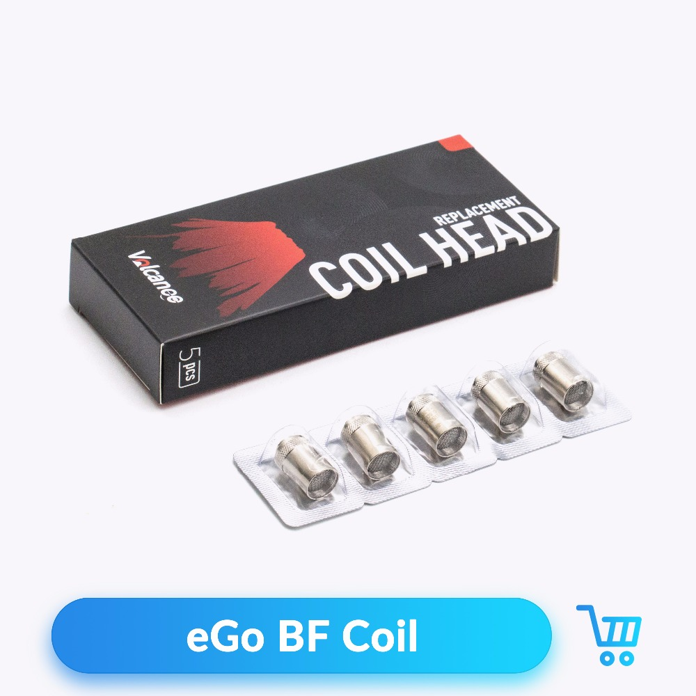 Volcanee 20pcs BF Coil SS316 for Cubis eGo AIO Cuboid Mini Tank RTA Atomizer Vape Core Heating Wire E Cigarette Replacement Coil image