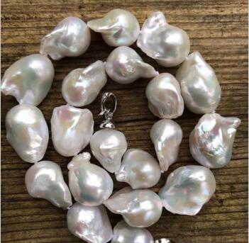 Wholesale price ^^^Large Baroque pearl necklace,Fireball pearl necklace,Large pearl necklace