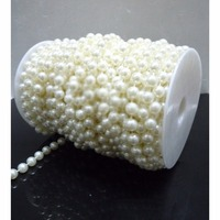 [wamami] 8mm Fishing Line Artificial Pearls Beads Chain Garland Diy Wedding Party Dec
