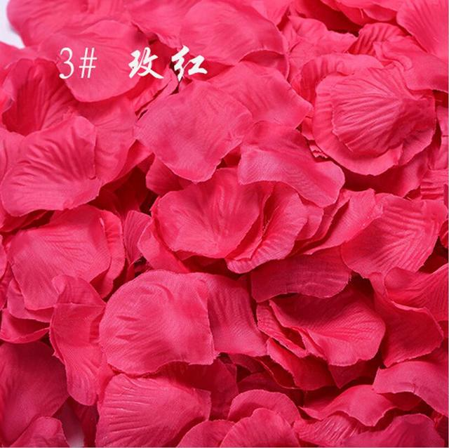 Rose Petals For Wedding Colorful Silk Flowers Artificial Flower Wedding Accessories Wedding Petals Petalos De Rosa De Boda BV266