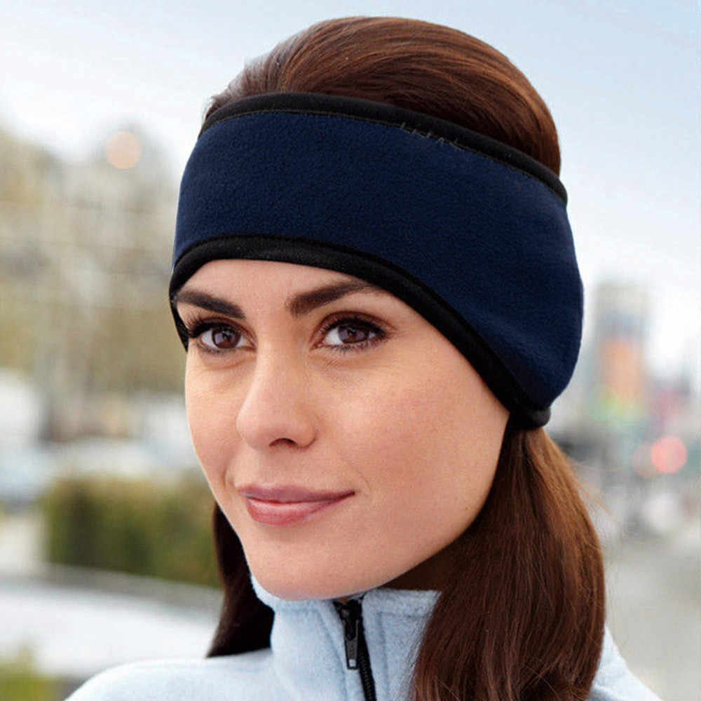1PC Headband Unisex Women Men Ear Warmer Winter Solid Head Band Ski Ear  Muff Headband Hair 3c417973fb2
