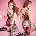 Women Sexy Lingerie Sexy Bodystockings transparent hollow out Open Crotch Teddies/Bodysuits Sex toys jacquard Whole body socks