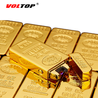 VOLTOP Gold Bullion Electric Arc Pulse Lighter Windproof Cigarette Lighter USB Charge Relief Cool Noble Rich