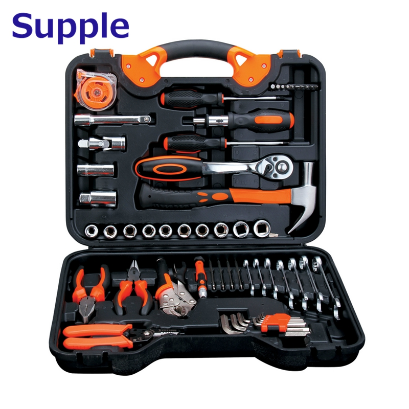 Supple high quality 55 in 1 Car repair combination tools socket wrenches screwdrivers household kit 46pcs socket set 1 4 drive ratchet wrench spanner multifunctional combination household tool kit car repair tools set