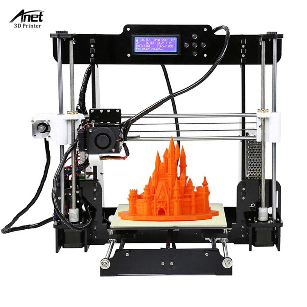 Cheap Anet A8 3D Printer High Precision Upgraded Reprap Prusa i3 Desktop DIY 3D Printer Kit 2004LCD Printing Size 220*220*240MM anet a8 3d printer reprap prusa i3 precision with free 8 gb sd card lcd screen high quality desktop 3d printer moscow warehouse