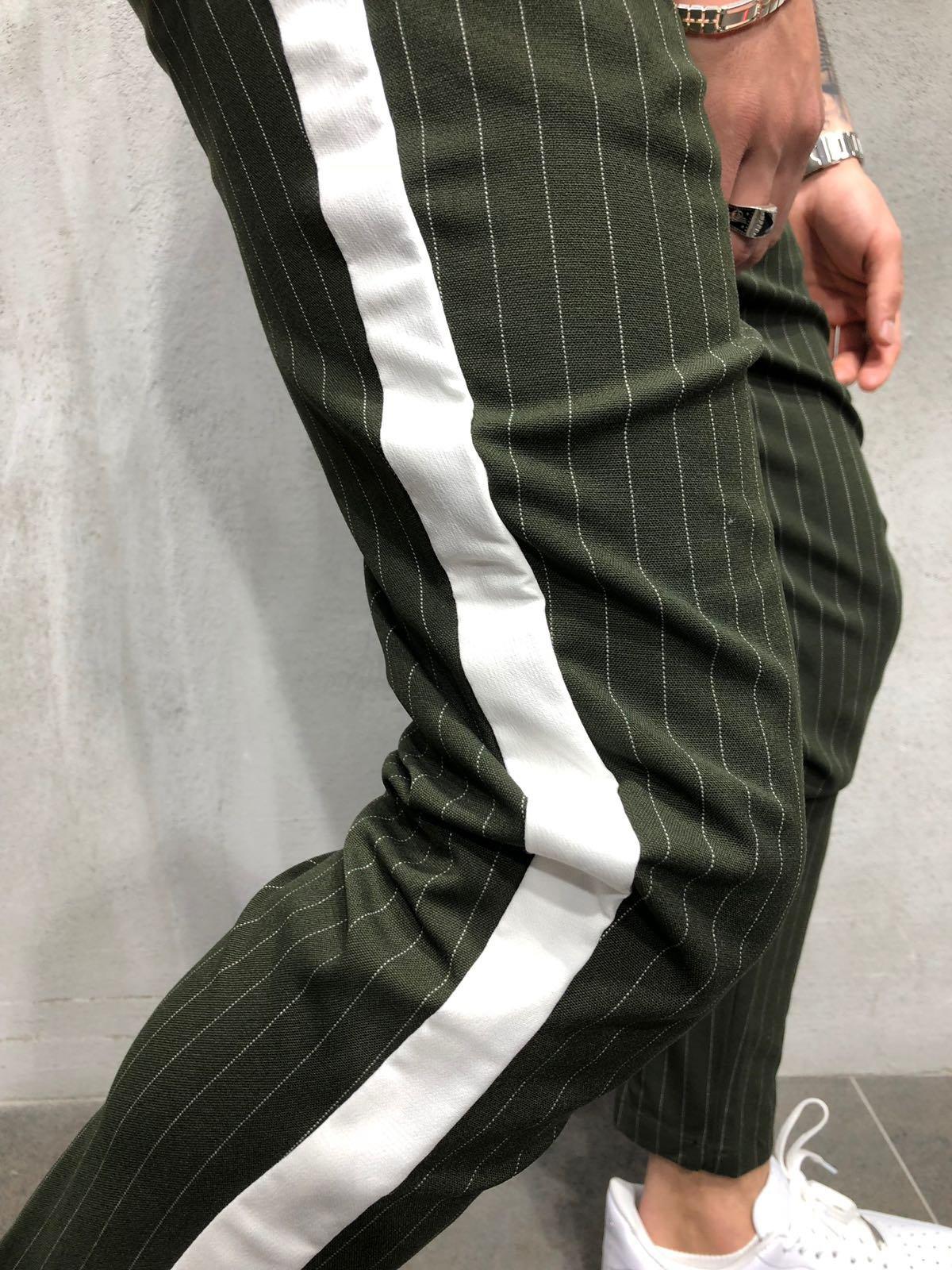 Sporting Hirigin New Men Slim Fit Urban Straight Leg Trousers Skinny Pant Casual Pencil Hot Pants Men's Clothing