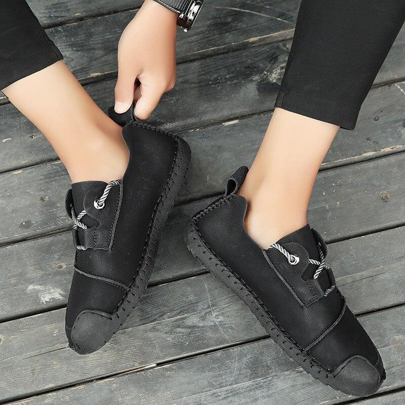 Mocassins Yellow Cuir Zapatos Hommes Casual 2a kaki Doux En Confortable Air Super Style Hombre noir Sneakers Britannique Mode Chaussures Plein wqxTOE6