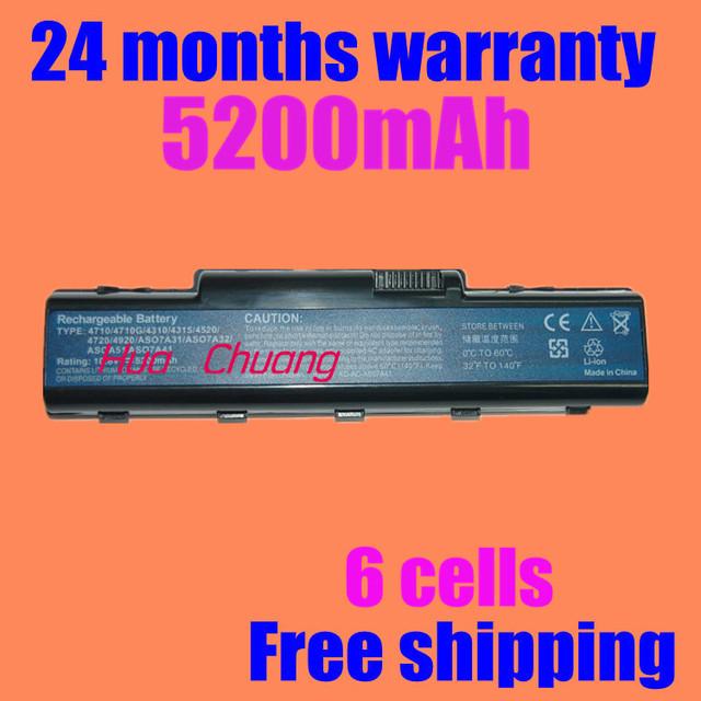 Jigu [Preço especial] new bateria do portátil para acer aspire 4710g 4720z 4730zg 4736 4930g 5235 5300 5335 5516 5541 5542g 5734z