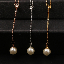 MSX Fashion Pearl Long Necklace for Women Wedding Jewelry Luxury Rose Gold Color Women Female Fashion Pearl Necklace & Pendants