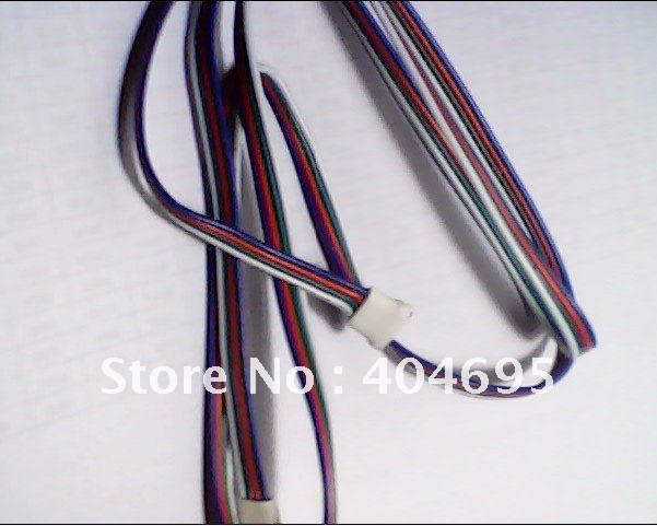 Free shipping 50pcs 1 meter LED RGB strip link cable / 1m rgb strip power extension cord link line