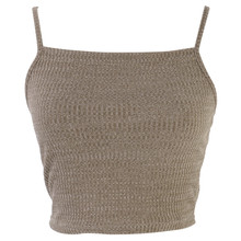 New Hot Sale Fashion Women Knitwear Sleeveless Tops Shirt Blouse Casual Crop Tops T-Shirts