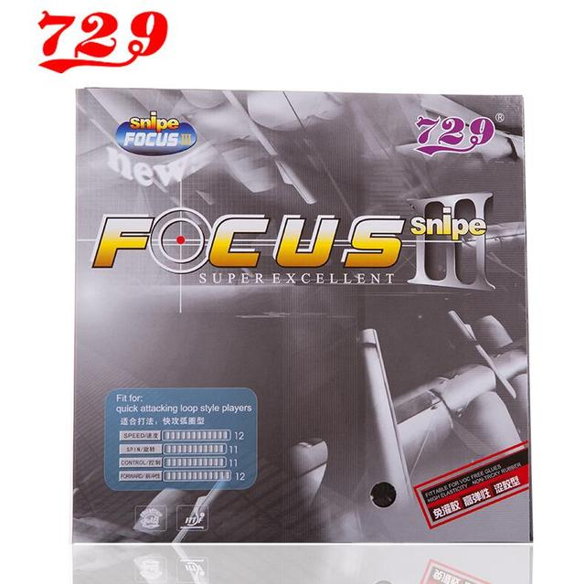1x 729 Friendship FOCUS 3 FOCUS FOCUS III Attack +Loop Pips-In Table Tennis (PingPong) Rubber With Sponge [Playa PingPong]