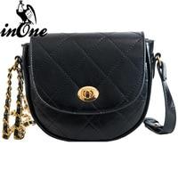 INONE Retro Diamond Lattice Le Boy Luxury Handbags Antique Hardware Shoulder Crossbody Bags for Women 2019 Bag Handbag Purses