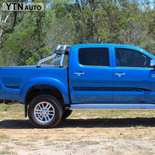 2 PC hilux 4x4 side stripe graphic Vinyl sticker for TOYOTA HILUX 2015 decals free shipping 4 pc hilux side stripe graphic vinyl sticker for toyota hilux decals