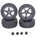 4pcs/Lot RC Buggy Tires Wheels 12mm Hex For RC 1/10 Off Road Car Electric Power HSP XSTR Pro 94107