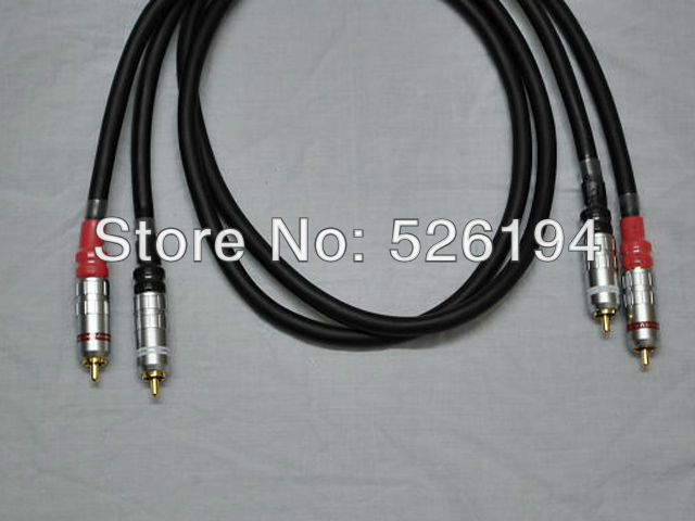 Free shipping  Pair Furutech Alpha P2.1 audio interconnect cable with silvrlink RCA plug connector free shipping pair furutech alpha p2 1 audio interconnect cable with silvrlink rca plug connector