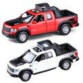 1:32 modelo de coche de metal niños tren de juguete para niños hot wheels volante camioneta f150 raptor amarok