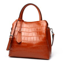 Vento Marea Large Capacity Ladies Totes Cross Body Plaid Style Satchels Women Handbags Oil Wax Real Leather Shoulder Bag Cowhide