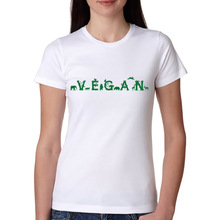 VEGAN logo with animals in between women's shirt