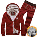 2016 inverno novas camisolas dos homens terno casaco cardigan venda quente moda Com Capuz casuais Fino mais grossa de veludo terno de trilha dos homens cinza