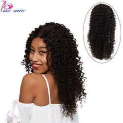 KISS MEE перуанские человеческие волосы парики для черных женщин 180 плотность глубокая волна Кружева передние парики 4*4 Кружева Закрытие Боб
