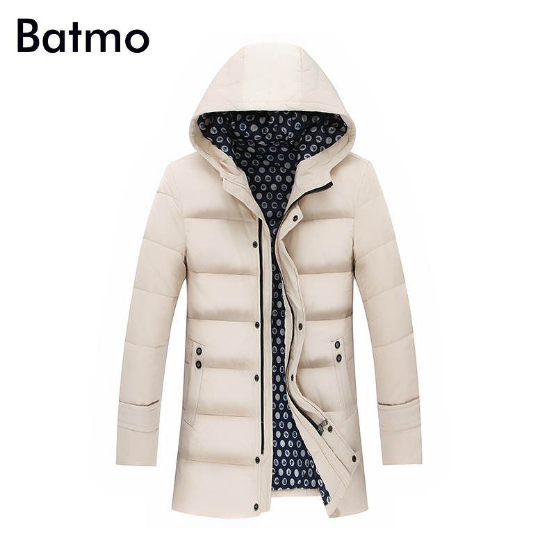 Batmo 2017 new arrival winter high quality white duck down warm hooded jackets men,winter mens coat plus-size L-8XL 1440