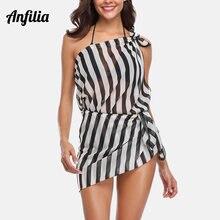 Anfilia женская Пляжная накидка саронг бикини легкое прозрачное