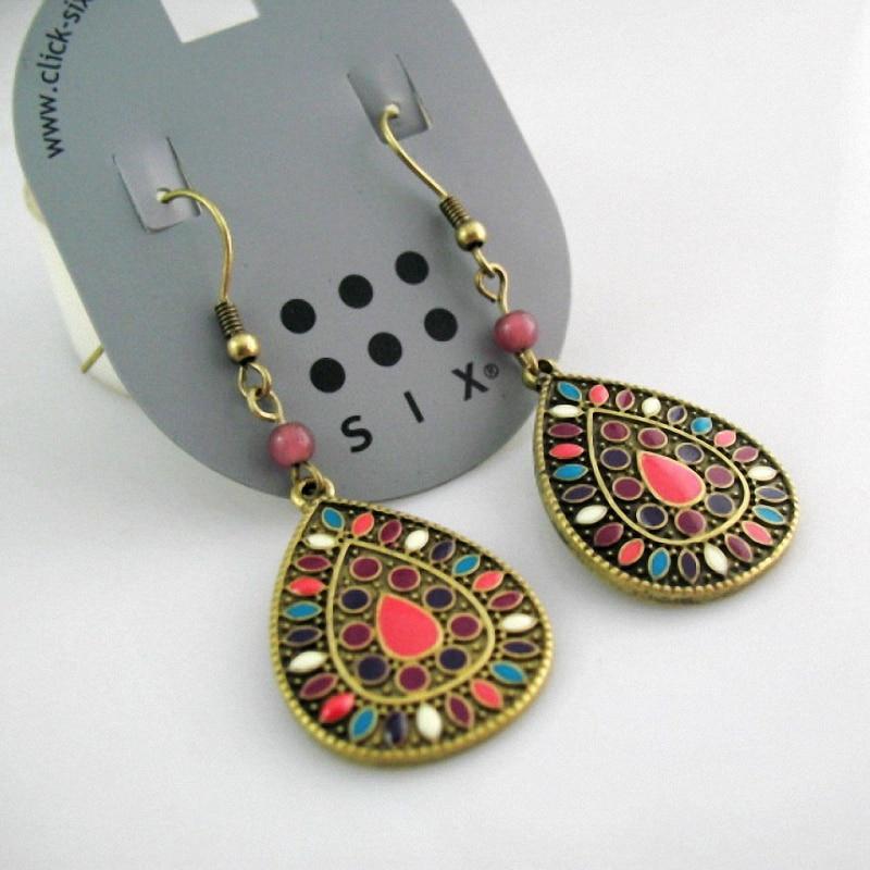 19 color New Sale Vintage Earrings for women Fashion Earrings Statement bohemian drop earringsJewelry ,Wholesale #Fo-DJ078